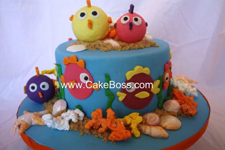 Aquarium cake ideas cake decorating pinterest for Fish tank cake designs