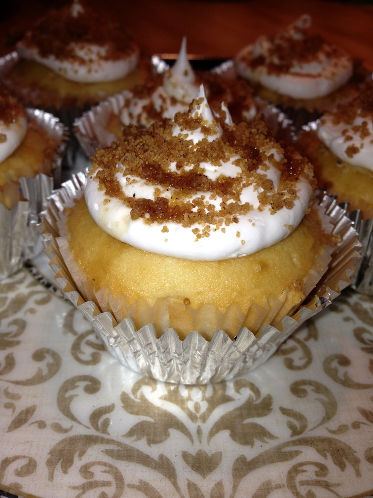 Maple peach cupcakes. Once the cupcakes have cooled, cut a cone shape ...