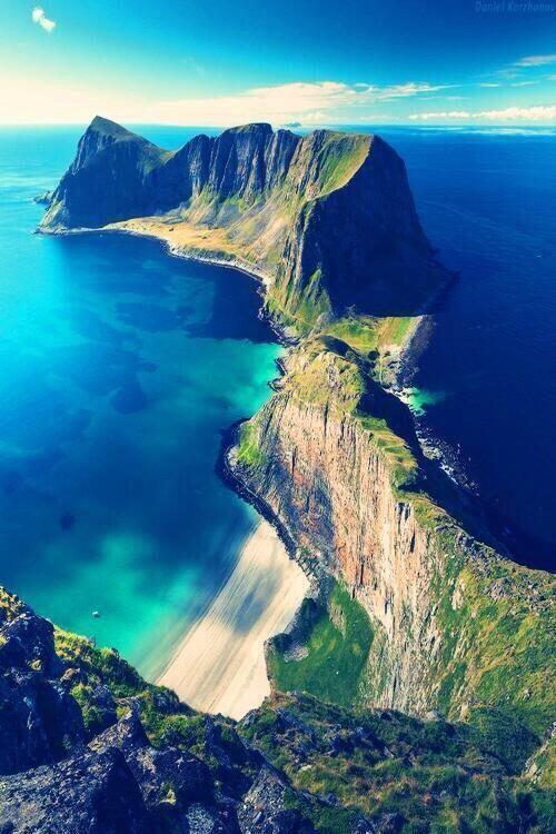 mountain range, ocean, beach #travel