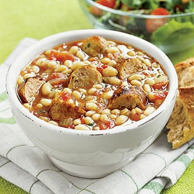 ... : White-Bean and Sausage Stew(try chicken or turkey Italian sausage