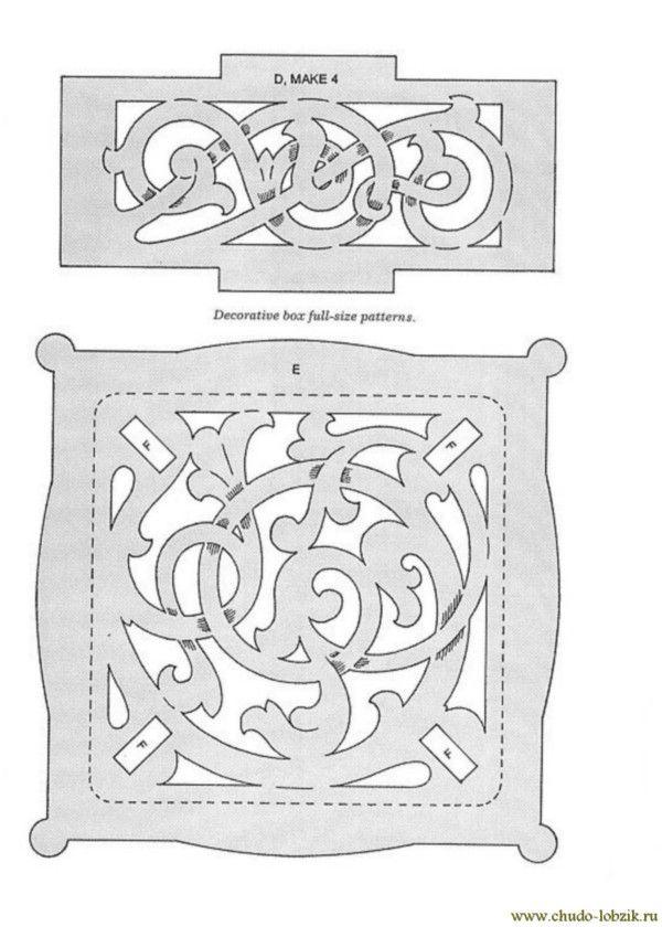 Шкатулка из фанеры чертежи из фанеры