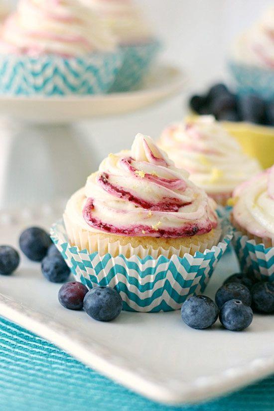 Blueberry Cornbread Cupcakes with Lemon Buttercream - Cupcake Daily ...