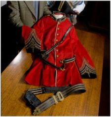 Preserving war heritage and memorabilia red uniform heritage