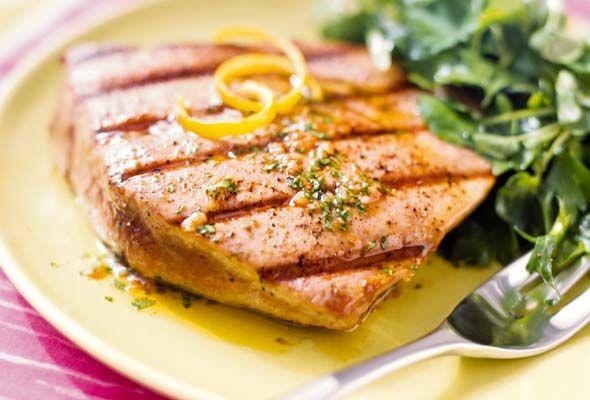 Grilled Tuna Steaks with Spiced Vinaigrette Recipe   Leite's Culinaria