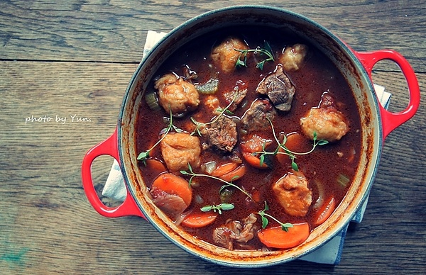 ... /Irish beef stew with Guinness Stout and thyme dumplings