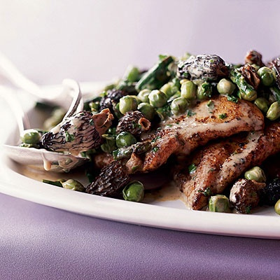 Chicken Scallopine with Morels and Spring Vegetables | Recipe