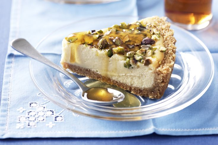 Our honey-pistachio cheesecake makes a marvellous mouth-watering ...