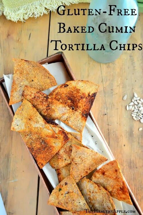 Gluten-Free Baked Cumin Tortilla Chips | Food Ideas ...