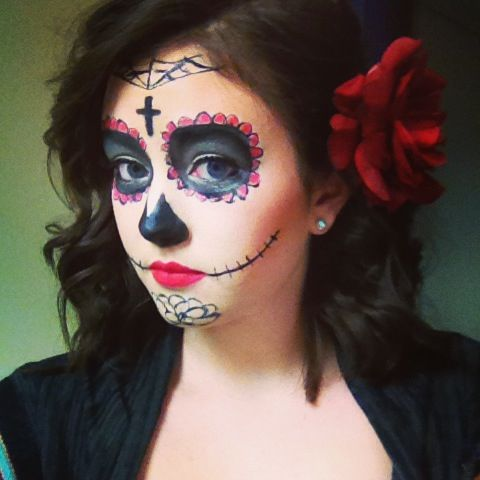 Pin by lindsay timmons on makeup pinterest - Maquillage dia de los muertos ...