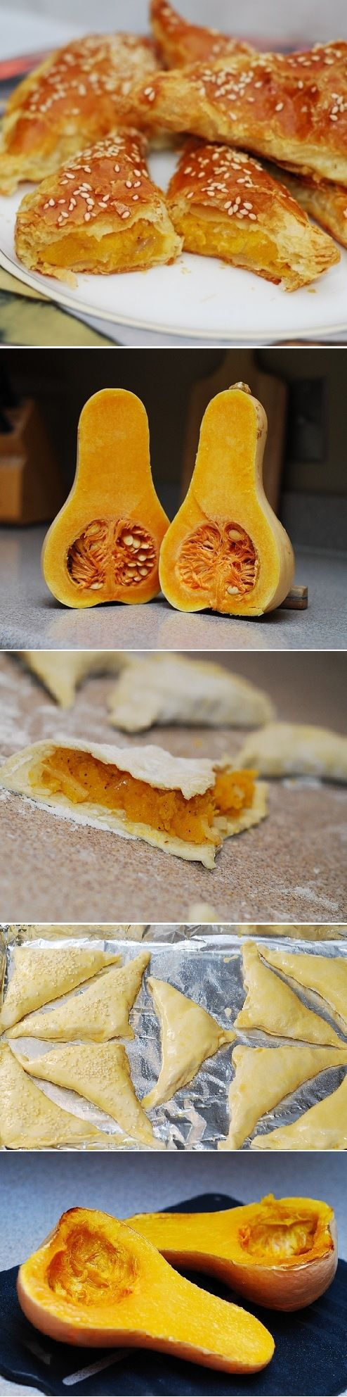 United States) Butternut squash (or pumpkin) turnovers, using puff ...