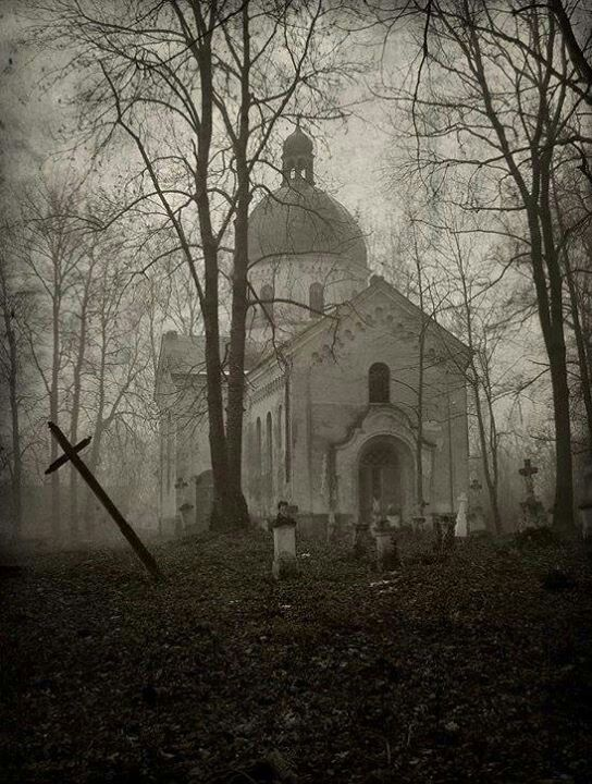 Abandoned church & cementery in Poland