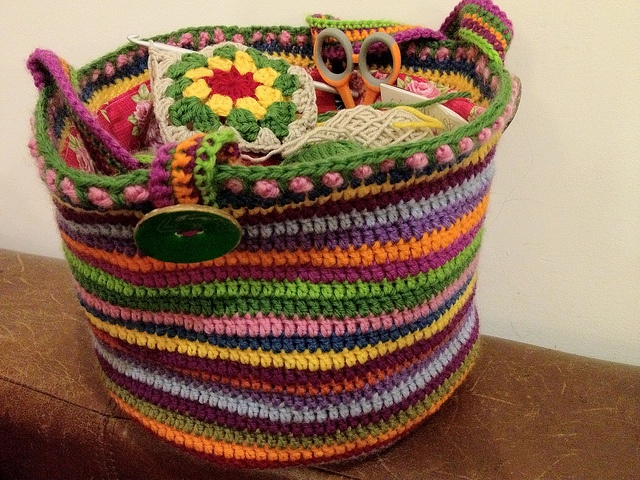 Crocheted bag, beautiful! Crochet Pinterest