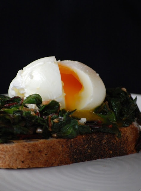 Swiss Chard and a Poached Egg on Toast | CSA Recipe Cache | Pinterest