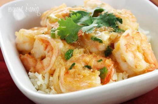Thai Coconut Curry Shrimp | Mmm...Mmm...Healthy! | Pinterest