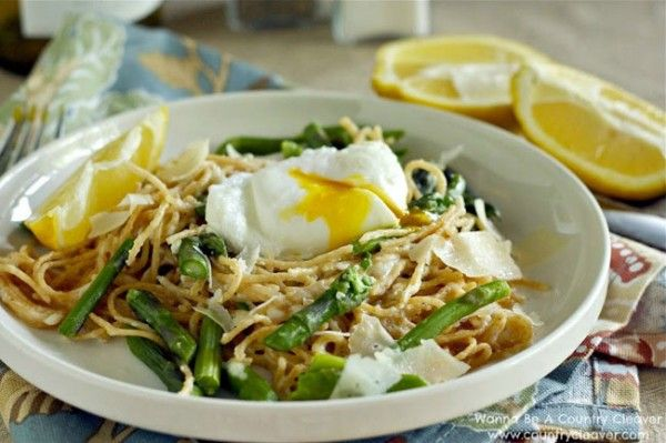 Pasta w/Poached Egg, Asparagus, & Lemon {Wanna Be A Country Cleaver ...