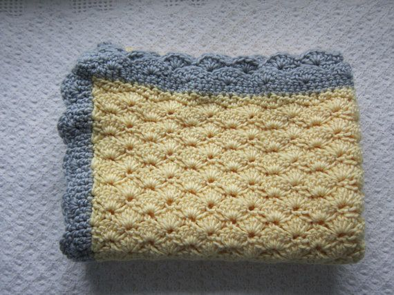 Knit Shell Stitch Baby Blanket : Crochet shell stitch baby blanket
