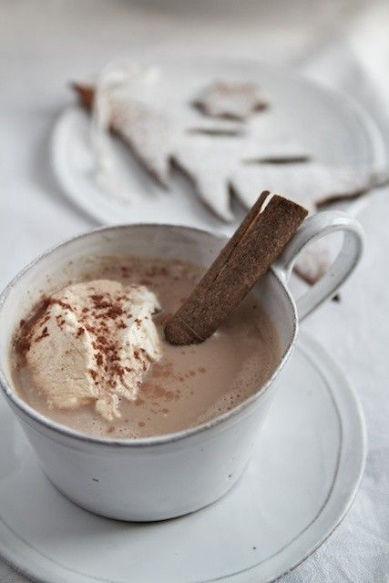 Chai-spiced hot chocolate