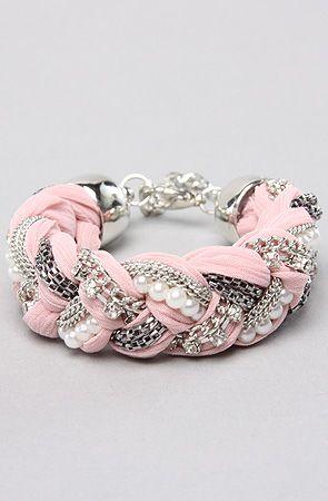 DIY braided bracelet.