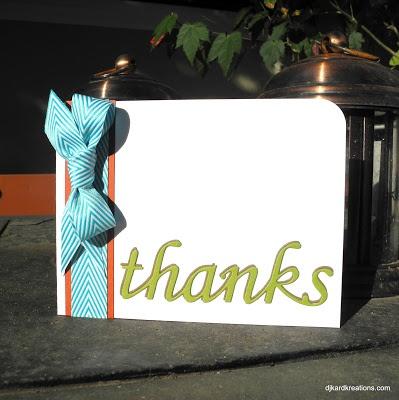 Yummy ribbon of thanks!