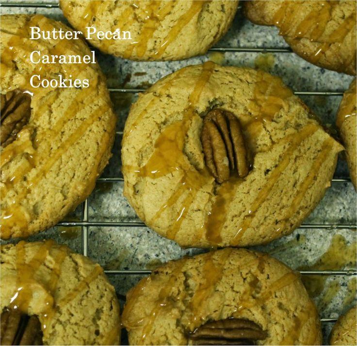 Butter Pecan Caramel Cookies | Cookie Monster's Heaven | Pinterest