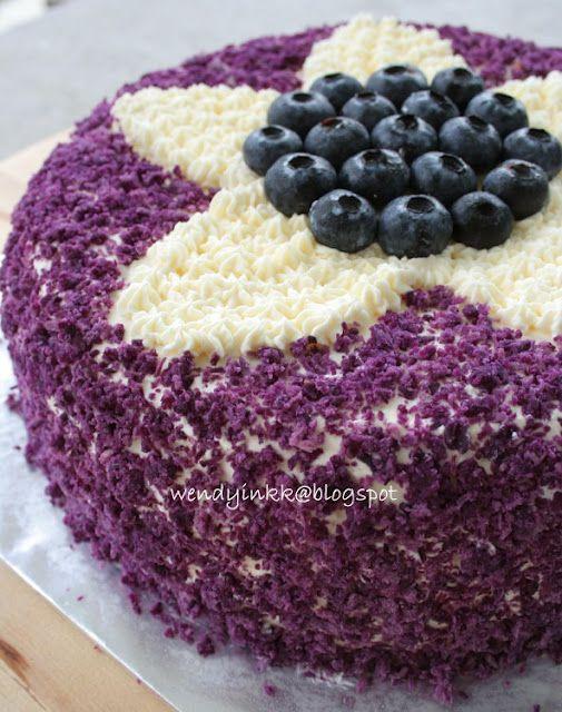 Purple sweet potato chiffon cake | ⊱ ⊱ FOOD & DRINK ...