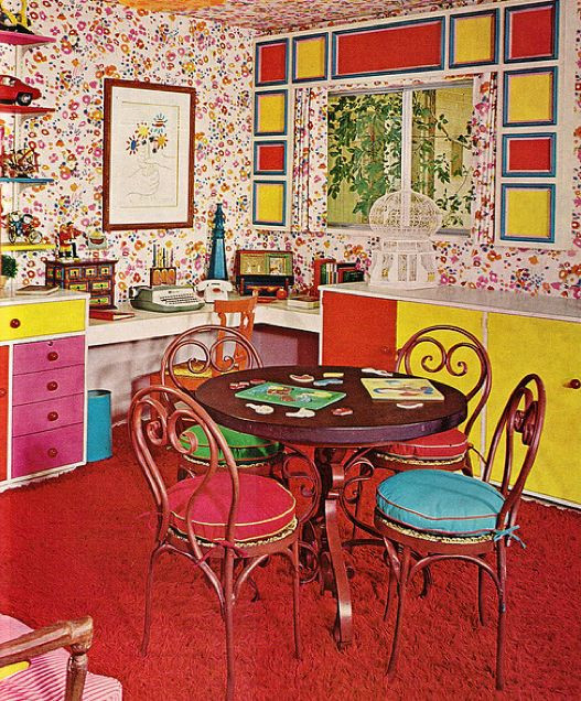 1960s 1970s interior design retro vintage pinterest for Kitchen design 70s
