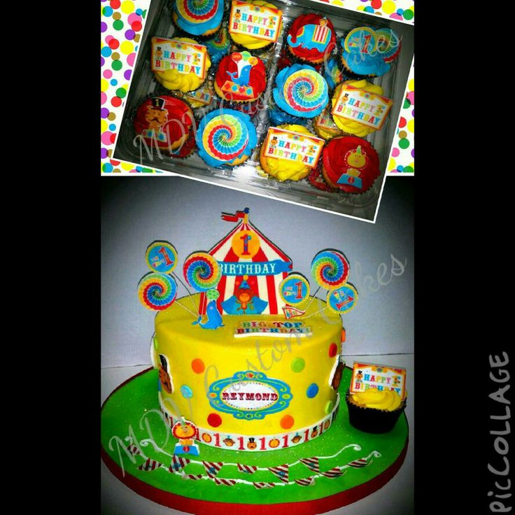 fisher price 1st birthday circus cake