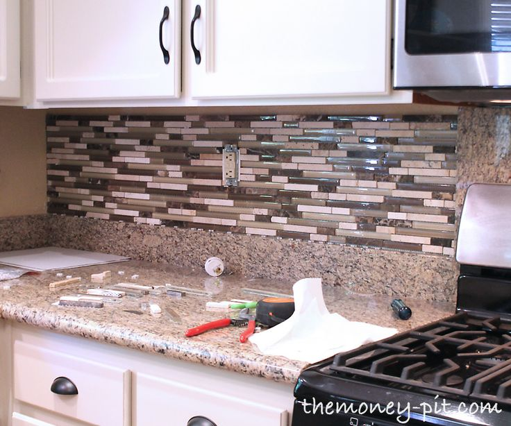 money pit installing a pencil tile backsplash and cost breakdown