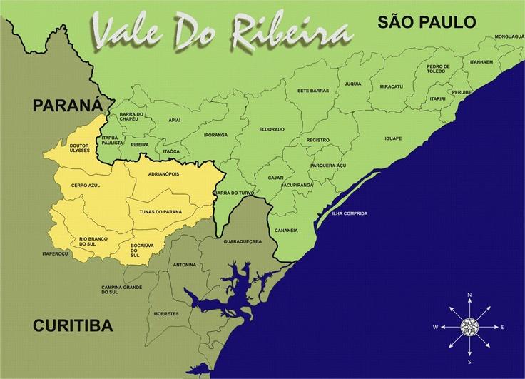 Mapa do Vale do Ribeira