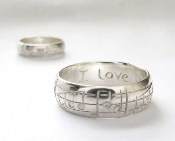 Your Song Wedding Ring Set 10 Karat White by Ricksonjewellery, 1475 ...