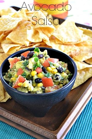 This Avocado Salsa is a twist on the classic Guacamole. Full of flavor ...