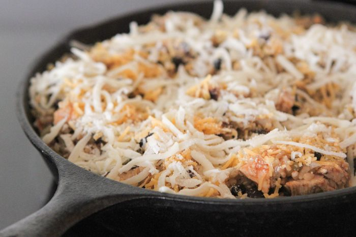 Chicken and Black Bean Green Chili Rice Skillet - Picky Palate