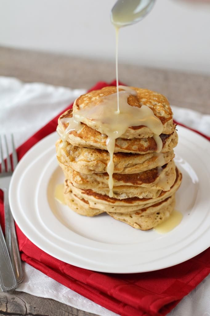 Eggnog Pancakes with Eggnog Glaze | My Recipes | Pinterest