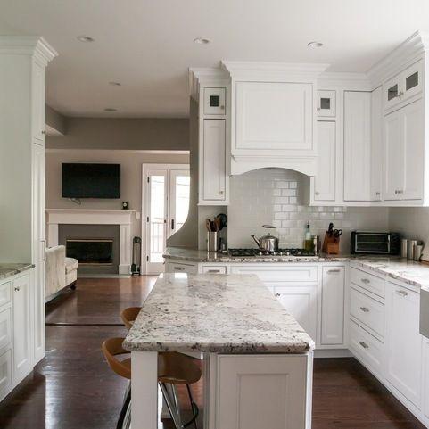 narrow island | Austin home ideas | Pinterest