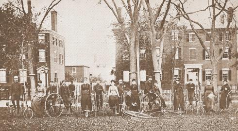 Can you imagine biking in skirts?
