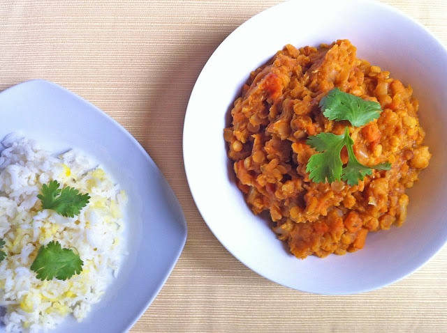 This Red Lentil Curry is an easy to make, mildly sweet, and spicy ...