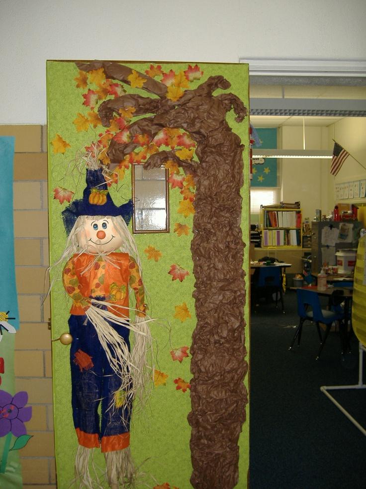 My fall classroom door door decorating for my classroom for Autumn classroom door decoration ideas