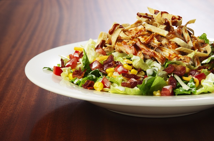 Smoked Chicken Salad: Iceberg lettuce and romaine hearts with bacon ...