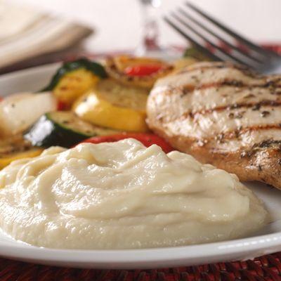 Rich & Creamy Cauliflower Puree (Easy; 6 servings) #cauliflower