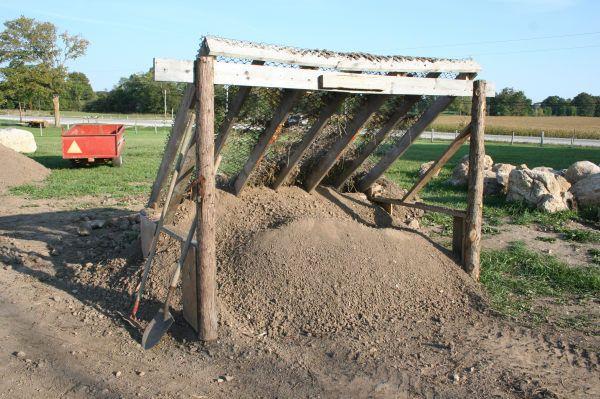 Soil screener gardens pinterest for Topsoil screener
