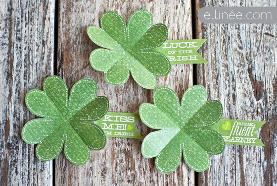 Printable to cut, fold and wear on St. Patrick's Day (by ellinee)