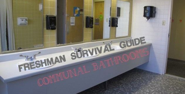 The Freshman Survival Guide To Communal Bathrooms At College Http
