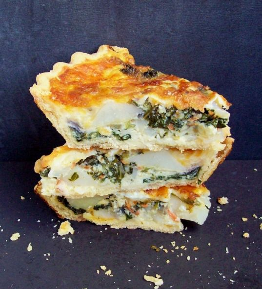Classic Quiche with Kale and Spinach | Recipe