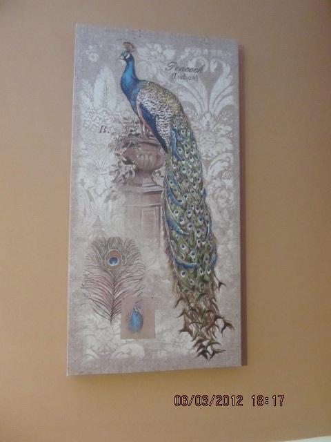 Peacock wall art peacock decor pinterest for Peacock wall art