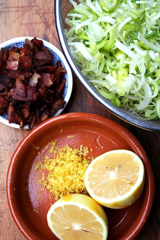 Pasta Carbonara With Leeks And Lemon Recipe — Dishmaps