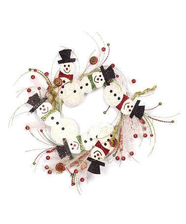 Holiday Snowman Wreath
