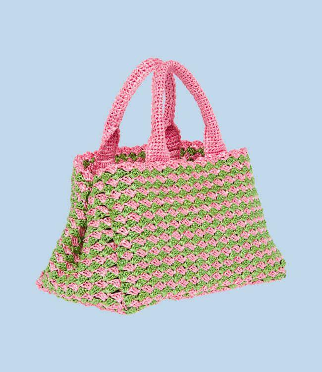 Crochet Designer Bags : Prada crochet raffia tote bag Designer Crochet Pinterest