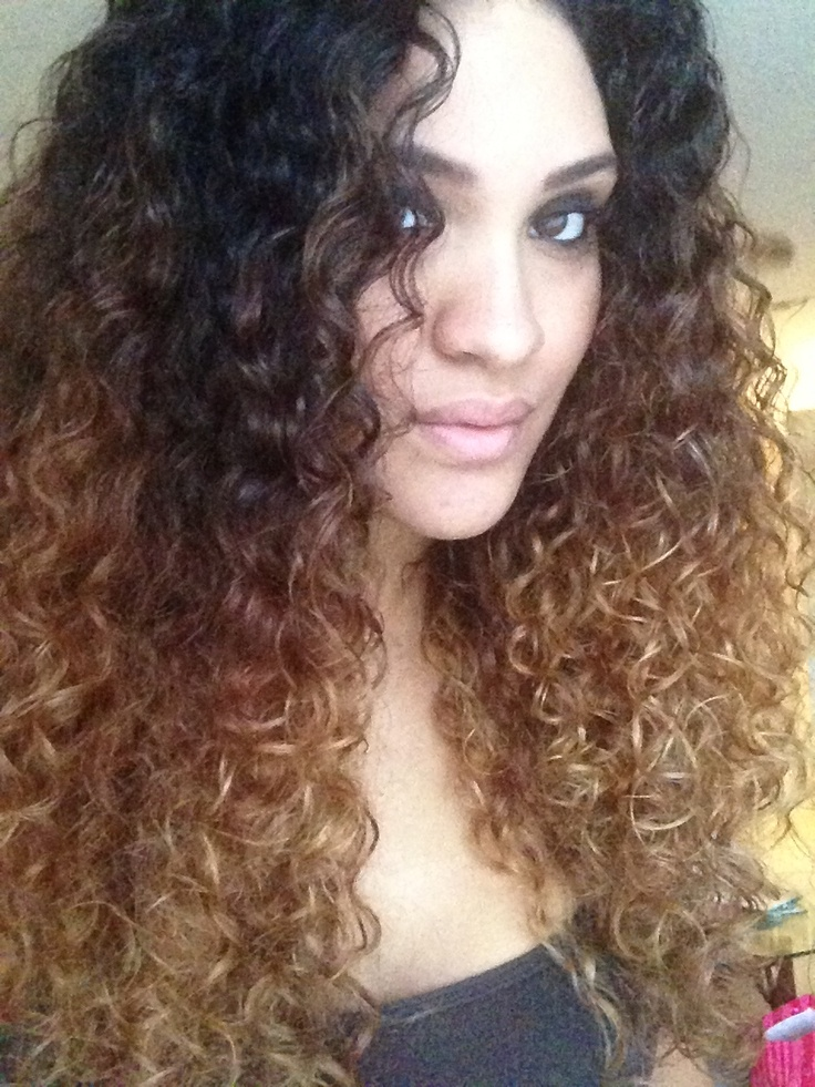 Natural Curly Hair Ombre Tumblr My new curly ombre hair