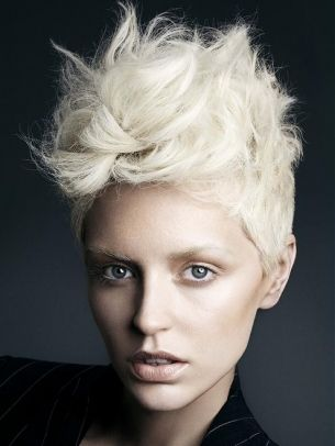 Womens Short Mohawk Fohawk Hairstyle | roll up and dye! | Pinterest