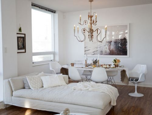 White interior with gold accents living rooms pinterest